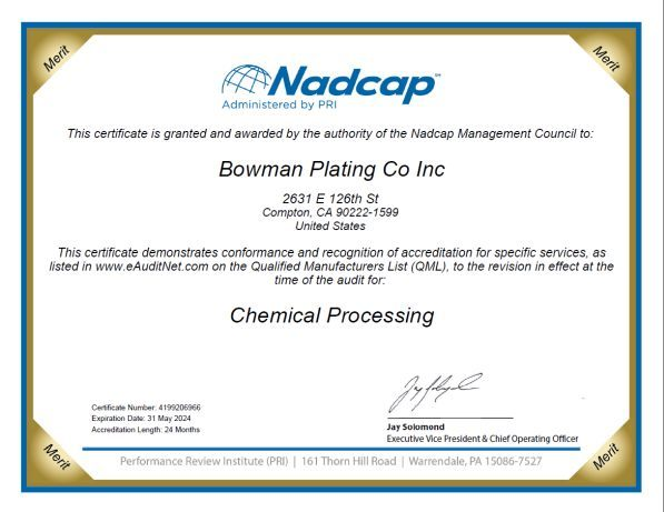 NADCAP certification